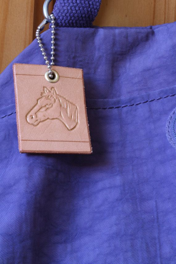 Handmade Horses Head Bag Charm by Tina's Leather Crafts on Etsy.com.  Repin To Remember.