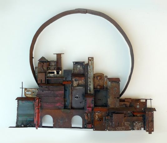 """Castellana"" - composition made of various kind of irons and iron barrel hoop electrically welded"