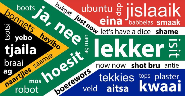 You may not be aware of this, but not everyone in the world speaks South African. And in honour of South African lingo, we've put together a list of slang words. More