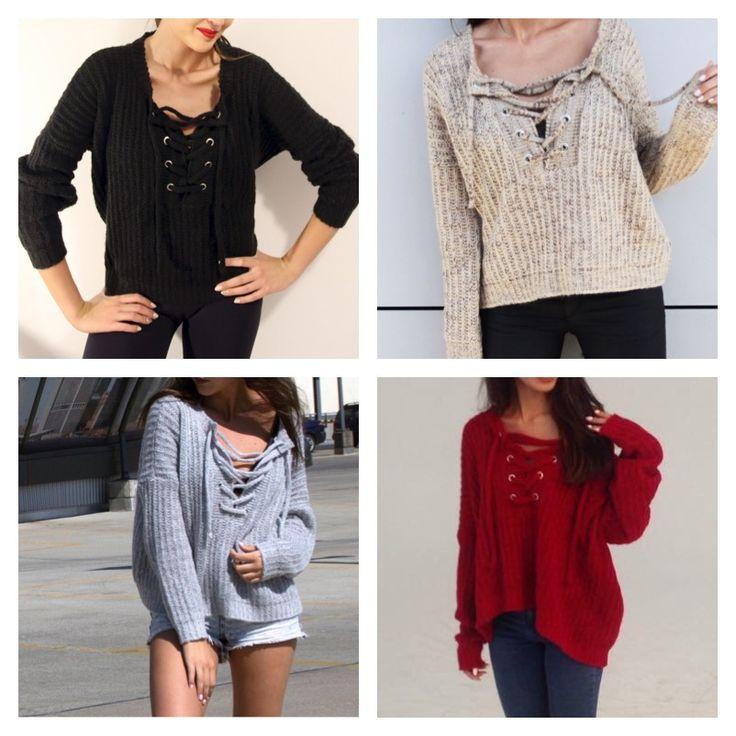 Wiązany sweter idealnie sprawdzi się gdy za oknem szaro i zimno. Przedstawiamy Wam kilka kolorów.  🍁  Sweater will warm you when bad weather outside. We have different colors.