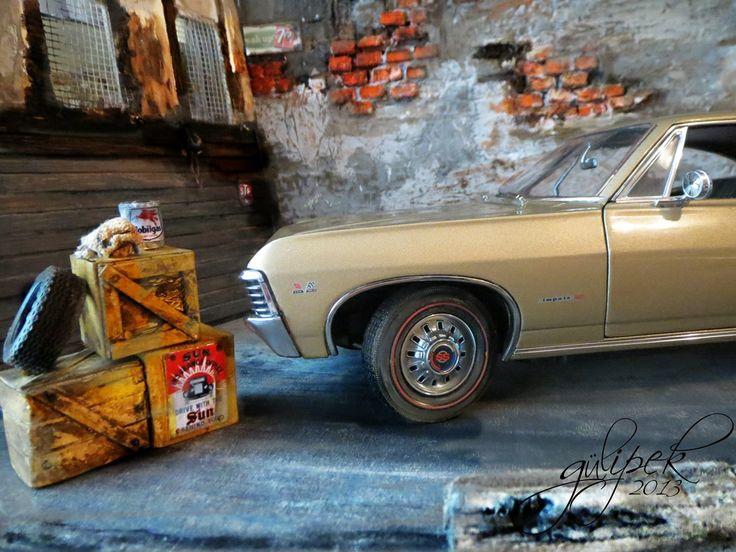 Chevrolet Impala SS 1967 scala 1:18 old car garage