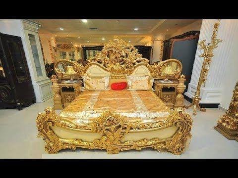 1875 غرف نوم حفر خشب زين شغل دمياط شي رائع اثاث فخم ملكى من كنوز دمياط Youtube Wooden Bed Design Bed Design Wooden Bed