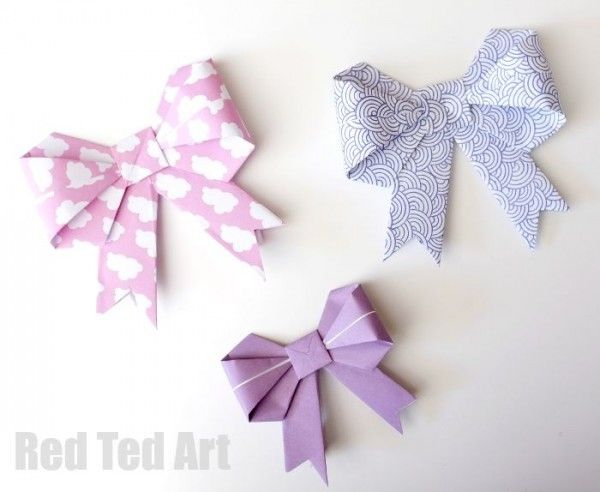 Origami Paper Bows - GORGEOUS GIFT WRAP IDEA!