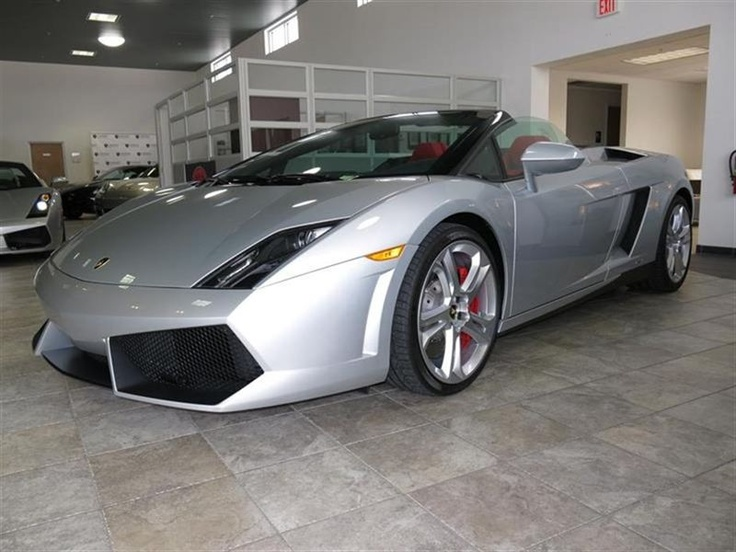 2013 #Lamborghini #Gallardo Spyder - Silver #sportscar #luxurycar #convertible #supercar #cars