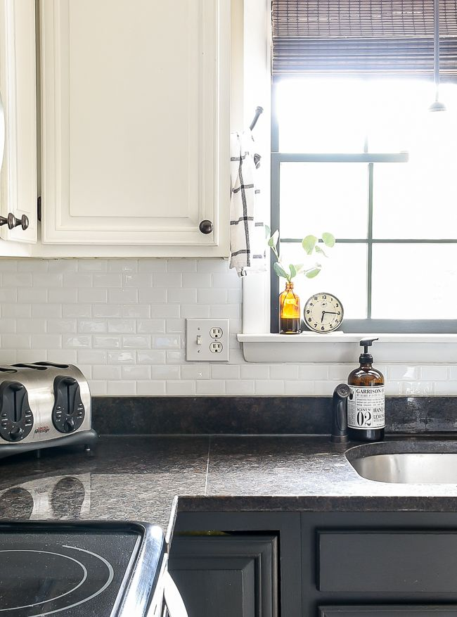 How Are They Holding Up Smart Tile Backsplash Review Smart Tiles Backsplash Smart Tiles Diy Kitchen Backsplash