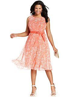 Orange Plus Size Dresses - Macy's
