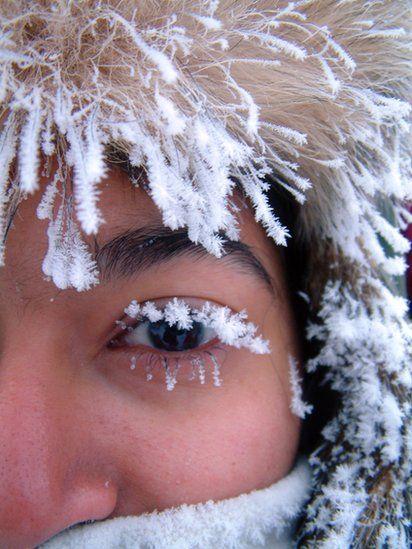 "Nikki Kuelsheimer: ""Taken during a -35C stroll in Arctic Sweden on our honeymoon."""