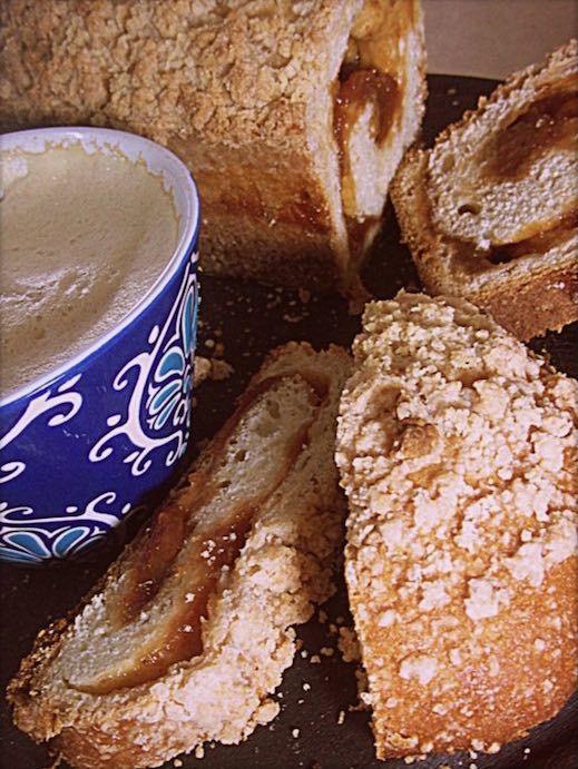 Receta enviada por:Patricia Zacarías MChef Ingredientes: Poolish:    40ml leche tibia  40ml harina 0000  1 cucharada de azúcar  3g levadura de cerveza instantánea  Masa:   550g harina 0000  2 huevos  110 ml agua tibia  3 cucharadas leche en polvo  130 g azúcar  6 g sal fina  100 g manteca o margarina  2 cucharaditas esencia de vainilla  1 cucharadita esencia