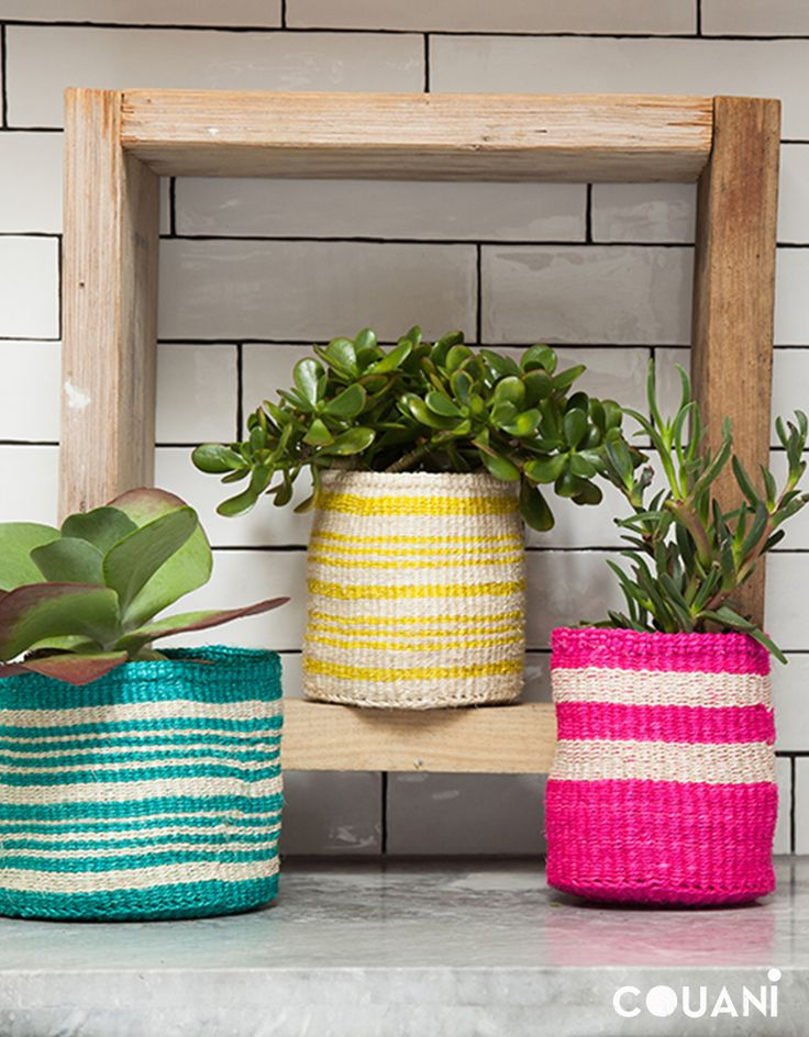 COUANI Catalogue 2014 // hand woven herb pot covers //