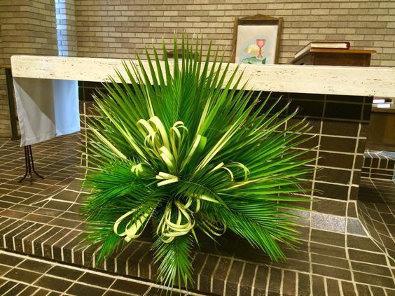 Image result for palm sunday flower arrangements for church