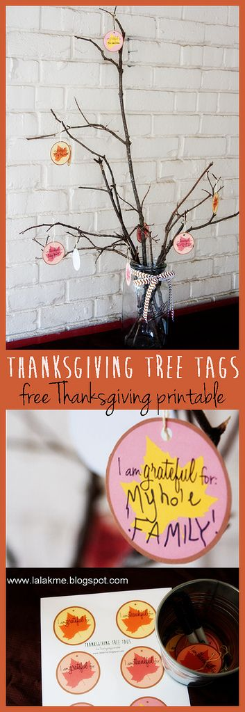 Thanksgiving Tree Tags: Free Thanksgiving Printable