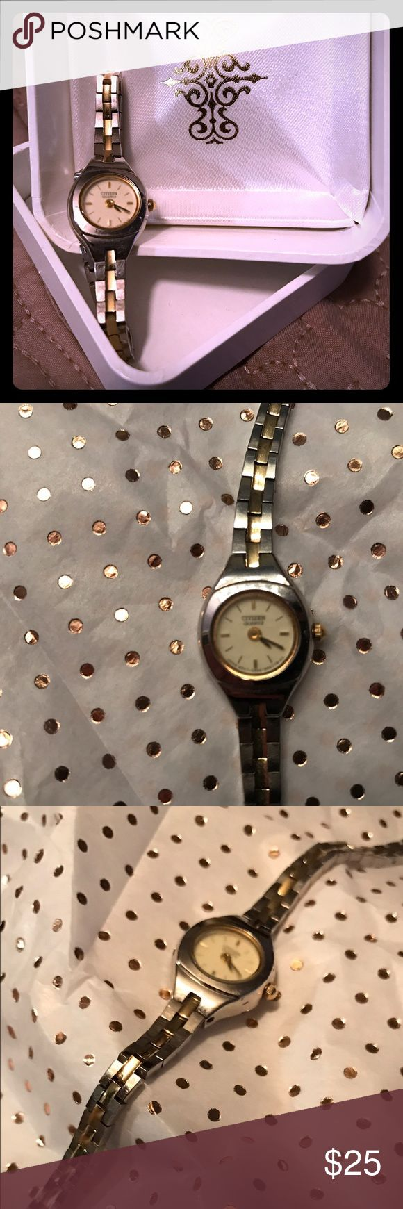 Citizen Ladies Watch Citizen Ladies Watch, Gold and Silver band and face.  glass face is a little blurred, but time is still legible Citizen Accessories Watches