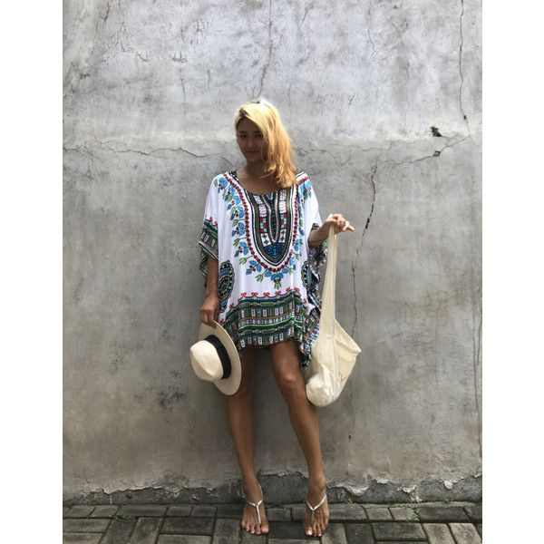 Bohemian Beach Poncho Beach Festival Boho Top Summer Tunic Oversize... ($29) ❤ liked on Polyvore featuring tops, tunics, dresses, grey, women's clothing, oversized tunic, grey poncho, summer poncho, round top and holiday tops