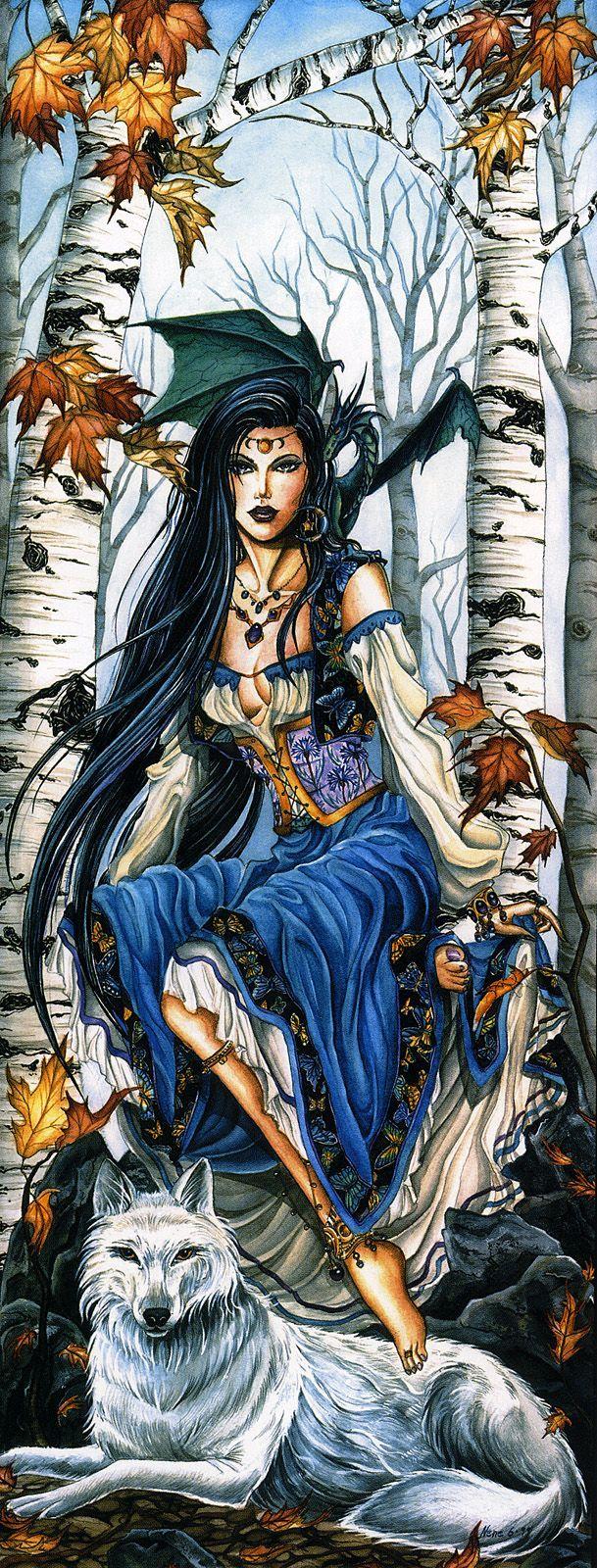 Nene Thomas Art | Nene Thomas - Sisters 1: Misty Morning | Fantasy Art I Love