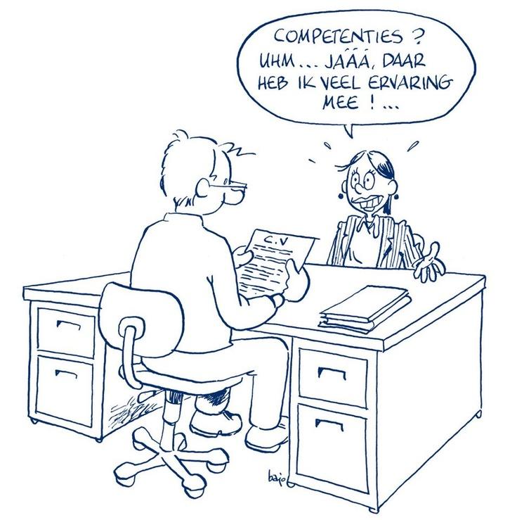 Cartoon: heb jij nagedacht over jouw competenties?