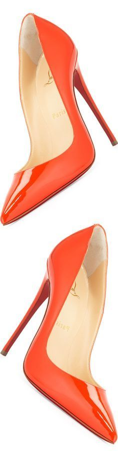 Christian Louboutin So Kate Patent 120mm Red Sole Pump, Cappucine www.ScarlettAvery.com