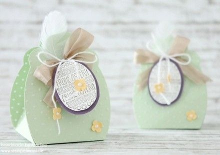 Stampin Up Osterkorb Easterbasket Box Goodie Give Away Ostern Stempelset Ein schönes Osterfest Stanzer Nostalgische Etiketten Itty Bitty Easter Basket