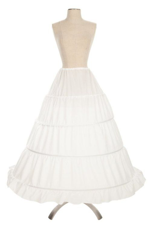 4 Ring White Petticoat Underskirt Hoop For Cinderella Gown