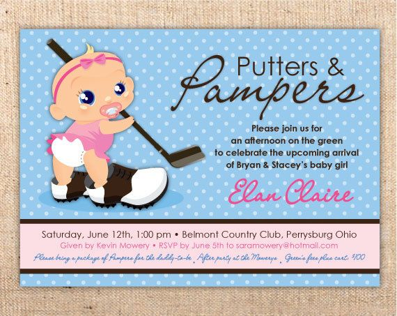Putters and Pampers Baby Shower (OMG Catherine I saw this and thought of you and FDJ)