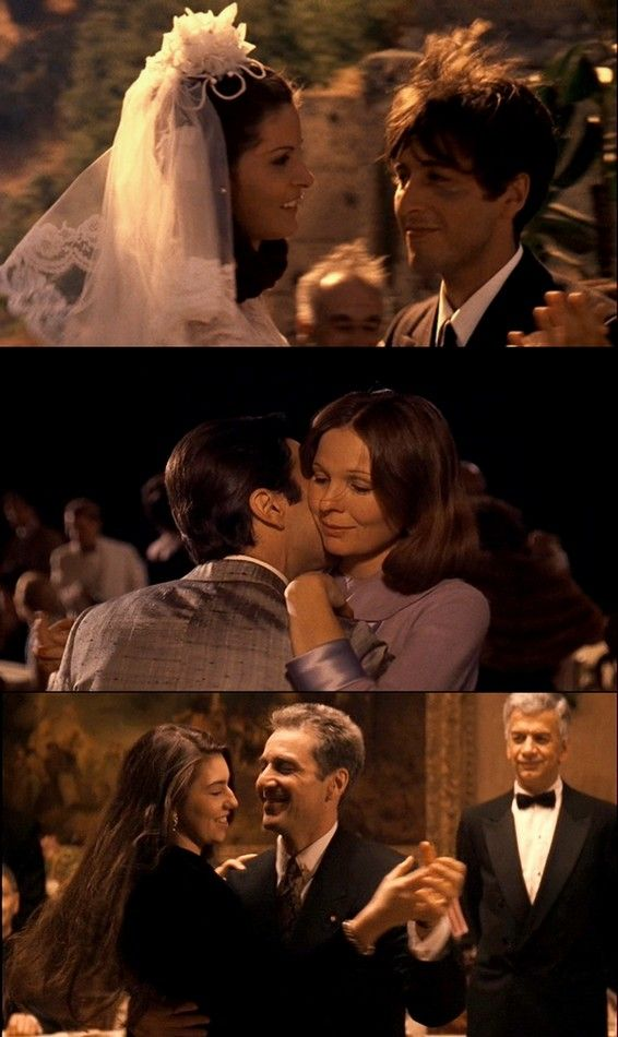 cyberbruxa:  Michael Corleone dancing with the women of his lifeApollonia Vitelli (The Godfather)Kay Adams (The Godfather Part II)Mary Corleone (The Godfather Part III)  Apollonia FTW. Kay y Mary GTFO!