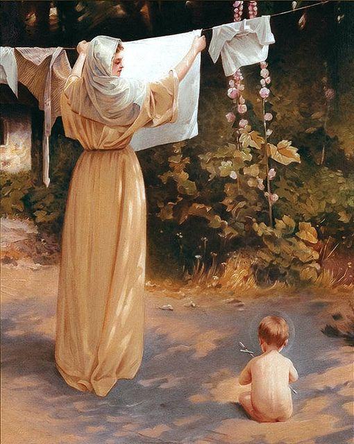 Virgen María y el Niño.                                                                                                                                                      Más
