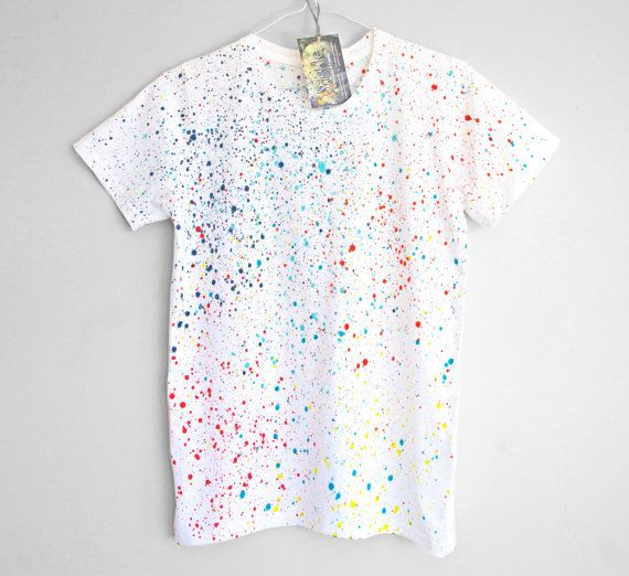 COLOUR SPLASH t-shirt. 100% organic cotton t-shirt for women.