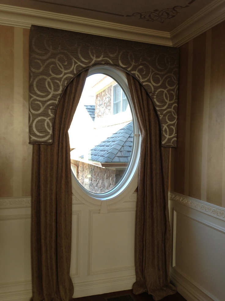 Solution for an oval window window treatments for Window treatment for oval window
