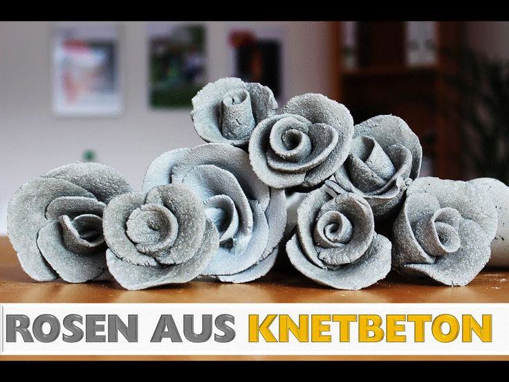 DIY: Deko Rose aus Knetbeton Selber machen! In 2 m…