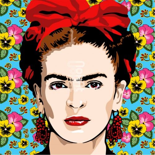 Frida acrylique bombe et collages sur toile pop artart gallerycollagesbuild your ownfrida kahlocanvasmontagescollagecollagen