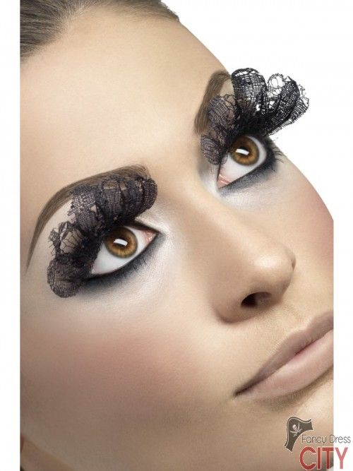 Eyelashes, Large, Black Lace