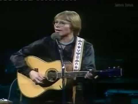 John Denver  in concert in London at Wembley Arena, 1979