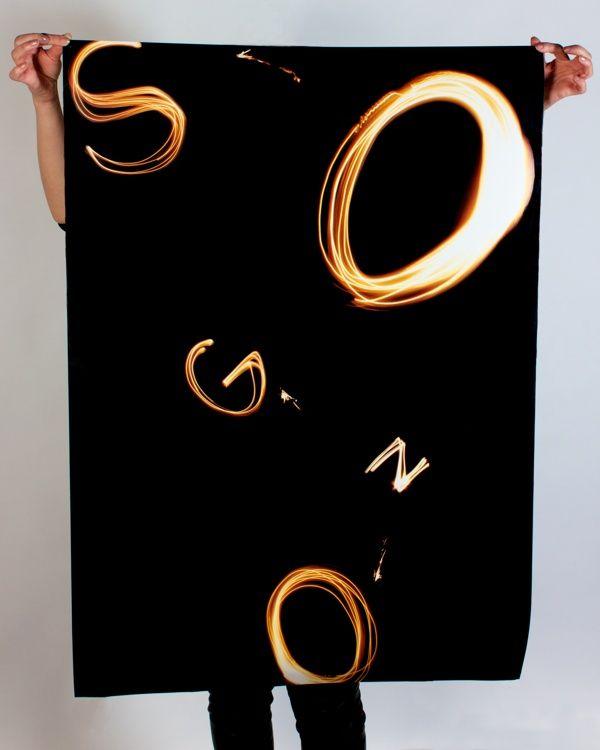 Sogno typographic poster on Behance by Alessio Sciascia
