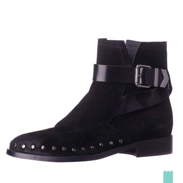 TOWER London Damen Schwarz Skin Leder Ankle Stiefel-UK 6 iHlIKz