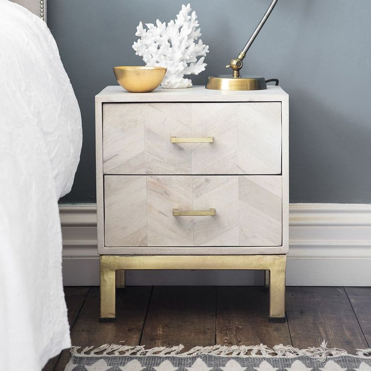 Chevron Bedside Drawers Atkin and Thyme First Avenue