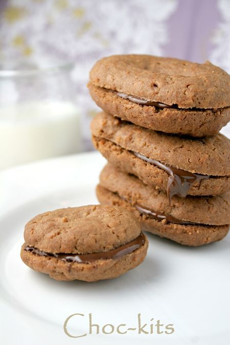 This recipe for South African Choc-Kit cookies makes fantastically chocolatey sandwich cookies with a hint of coconut.