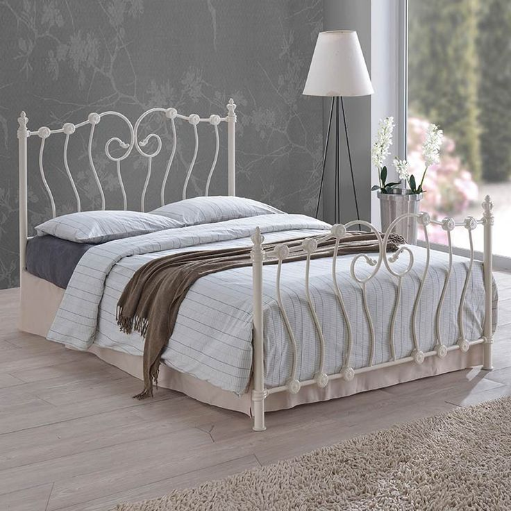Inova Metal Frame Bed (Size Options) by Time Living - 4ft - Small Double - Bed - Time Living - Space & Shape - 2