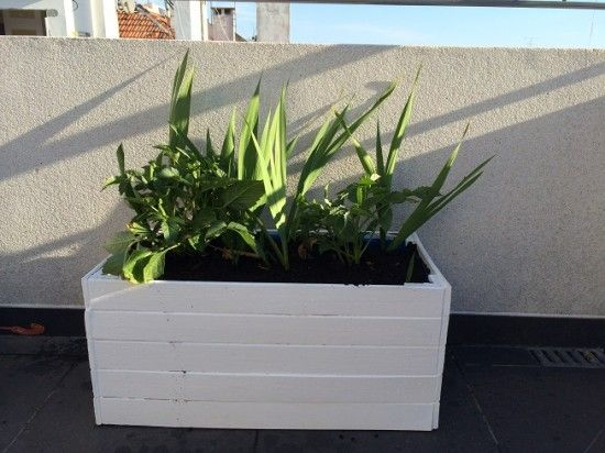 White planter from Sultan bed frame - IKEA Hackers