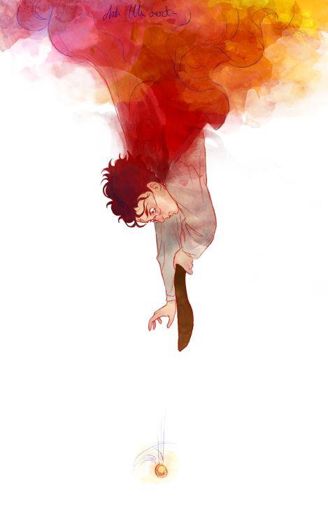 Harry Potter fanart by Asta Ullum #character #illustration #snitch