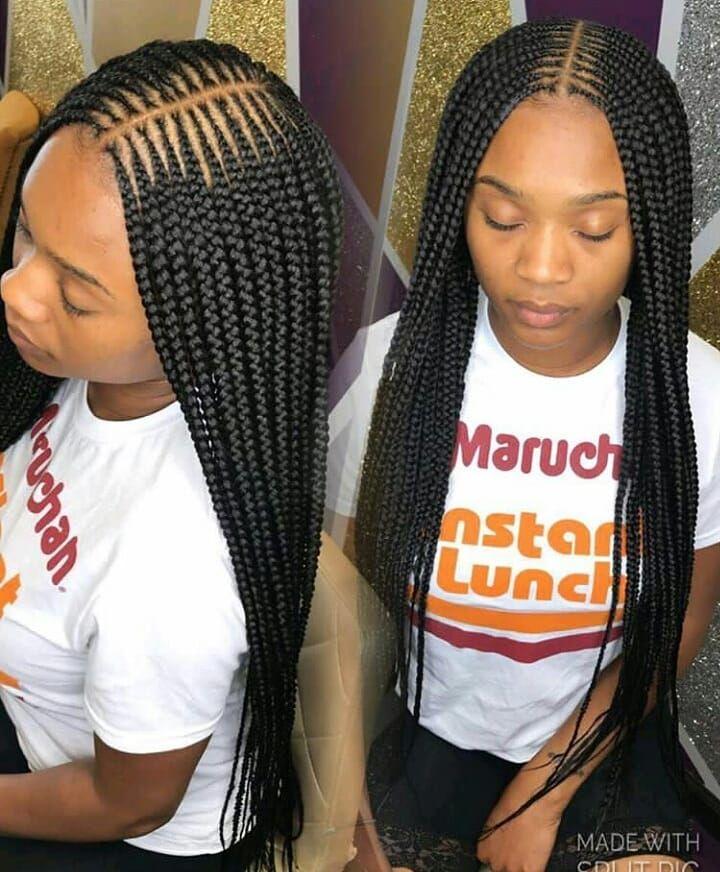 Braids By Ketta16 Feedinbraids Follow Ghanaianhairstyles Feedin Braided Hairstyles For Black Women African Braids Hairstyles Ghana Braids Hairstyles