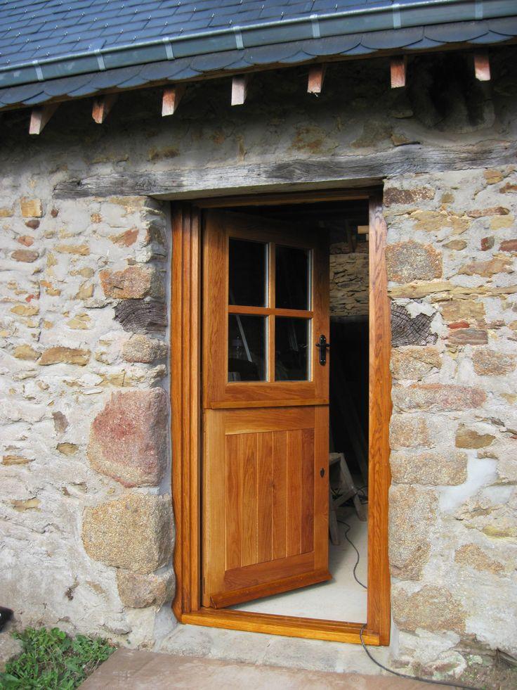 Stable Door Solid Oak External 4 Panel French Top Solid