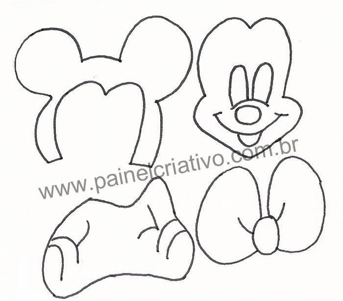 71 best Mickey Mouse y Minnie Mouse / moldes, patrones