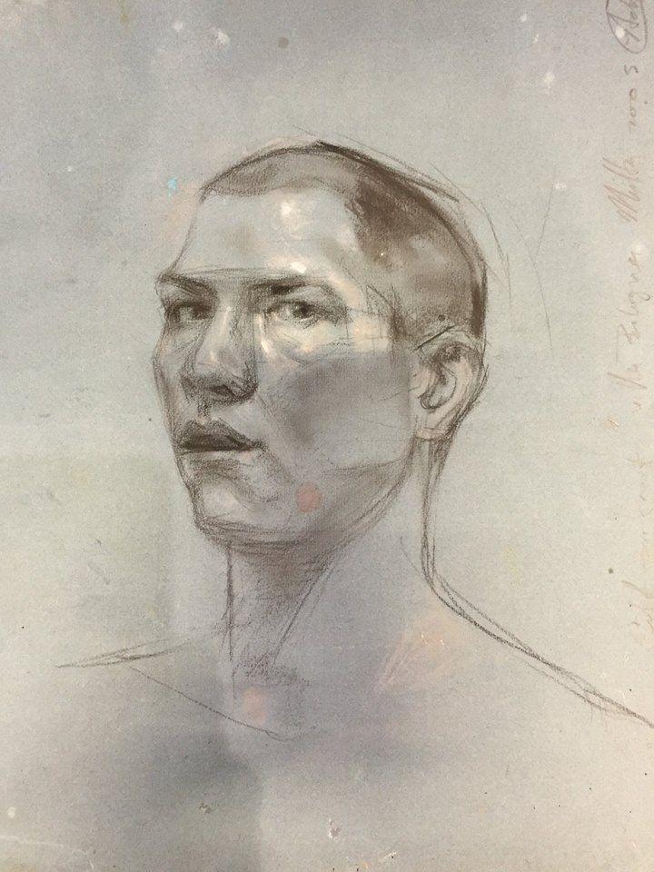 H. Craig HANNA, Self-portrait of the artist, pencil on paper, 2005