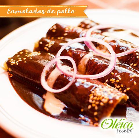 """""""ENMOLADAS DE POLLO""""  #Receta #Cocinamexicana"""