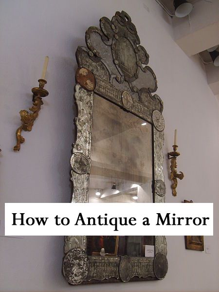 Whether your home is shabby chic, traditional, contemporary, or somewhere in between, you might enjoy decorating with antique mirrors for one of a kind decor.  You can give a new mirror an antique patina without the antique price tag.  C...