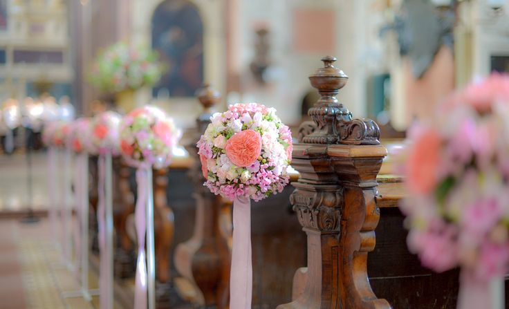colorful decoration at the church