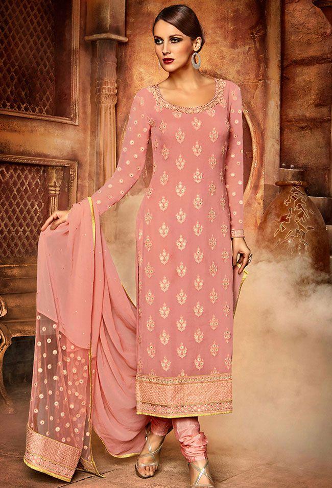 Plush Pink Salwar Kameez Set