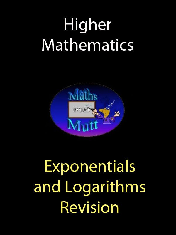 Kindle ebook:  Exponentials Growth functions Decay functions Graphs : Log scale Y axis only Graphs : Log scale both axis Logarithms Logarithmic equations Graphs of Exponential and Log functions Exponential functions Logarithmic functions Shifting log graphs