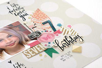 mitt kreativa kaos: SEVEN 7 Birthday .:. Maggie Holmes Confetti by Crate Paper