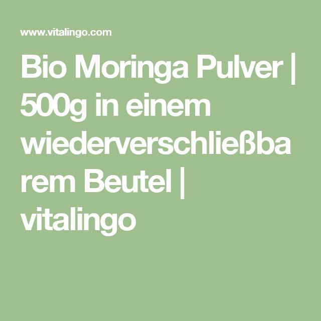 Bio Moringa Pulver | 500g in einem wiederverschließbarem Beutel | vitalingo
