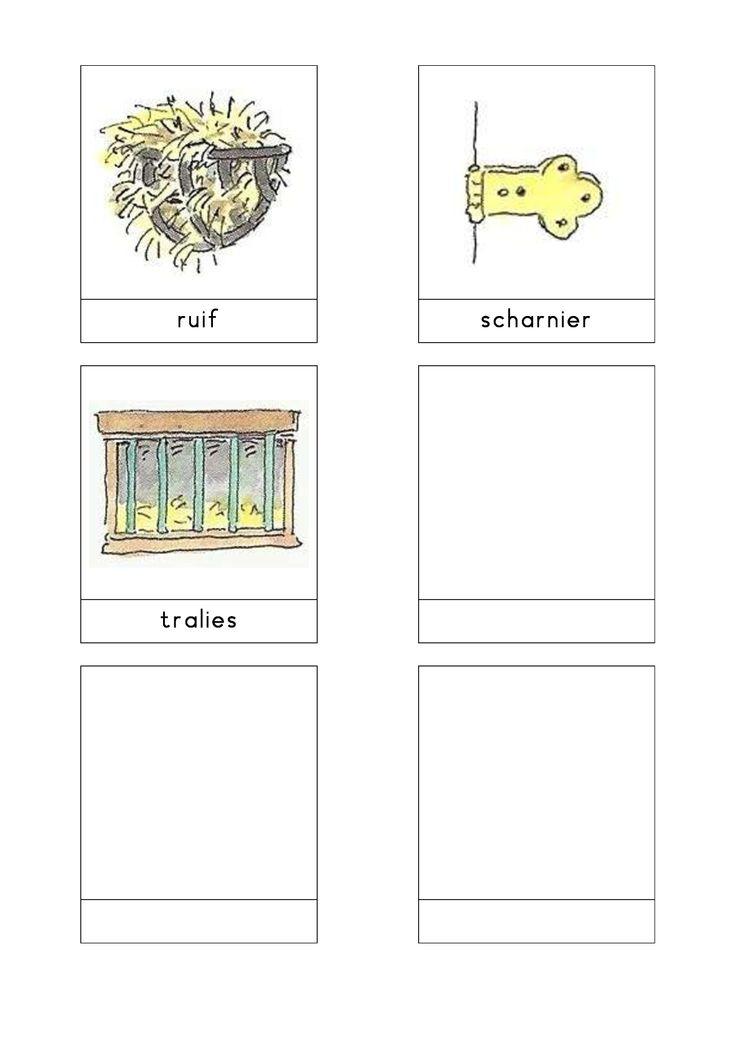 Woordkaarten Bas 'De kinderboerderij' 3